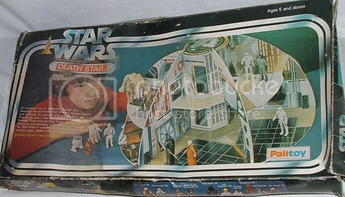 Battered Palitoy Death Star Box