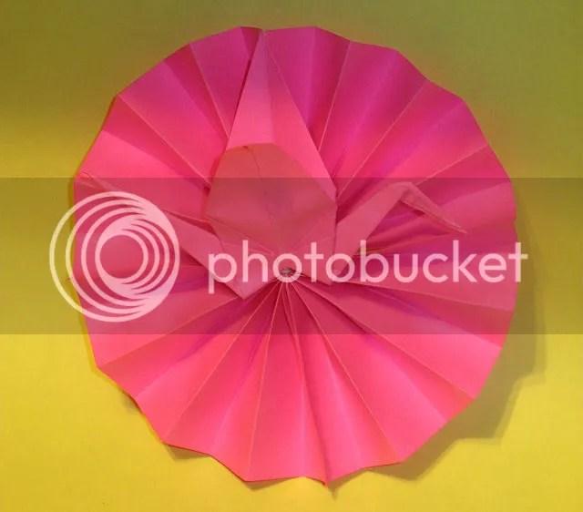 Origami de Tsuru em Leque