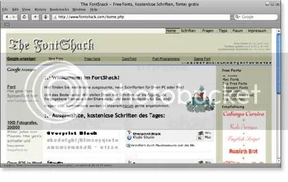 fontshack 21 Website Font Gratis