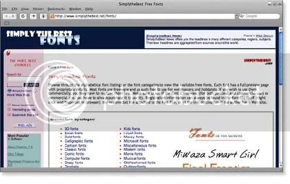 simplythebest 21 Website Font Gratis