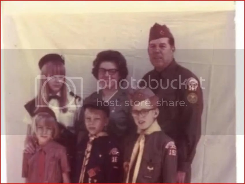 Earl, Aldine, and their little Scouts