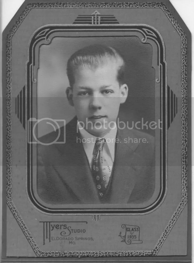 Earls high school graduation photograph, 1935