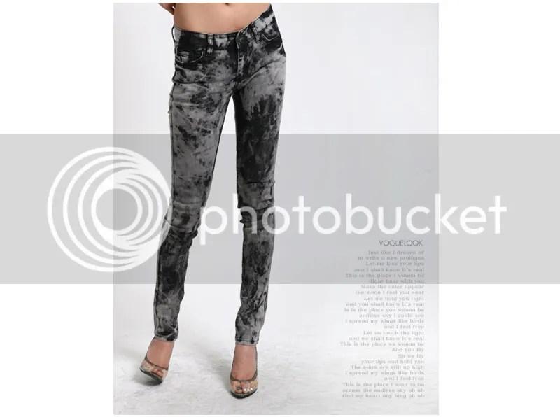 Black Tie Dye Jeans in style of Gwen Stefani AU$72.99