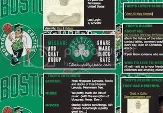 Boston Celtics Myspace Layout