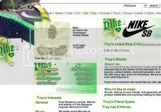 Nike SB Myspace Layouts
