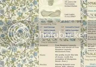 Vintage Floral Myspace Layout