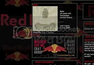 Red Bull Myspace Layout