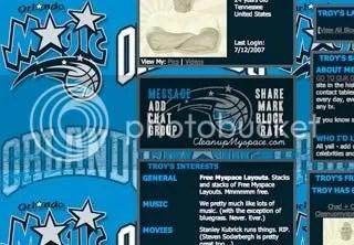 Orlando Magicc Myspace Layouts