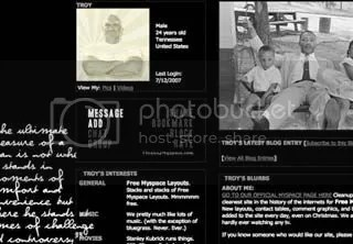 Martin Luther King Jr. Myspace Layout  - Dream