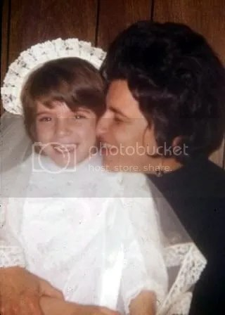 Mom and me at my First Holy Communion part