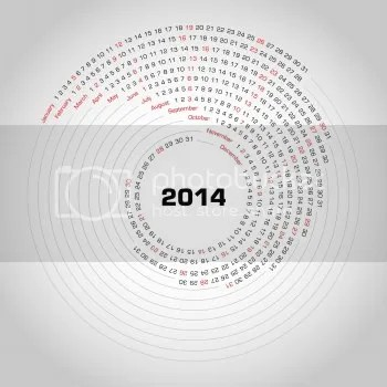 Image of an unusual 'rocking' calendar (for the year 2014)