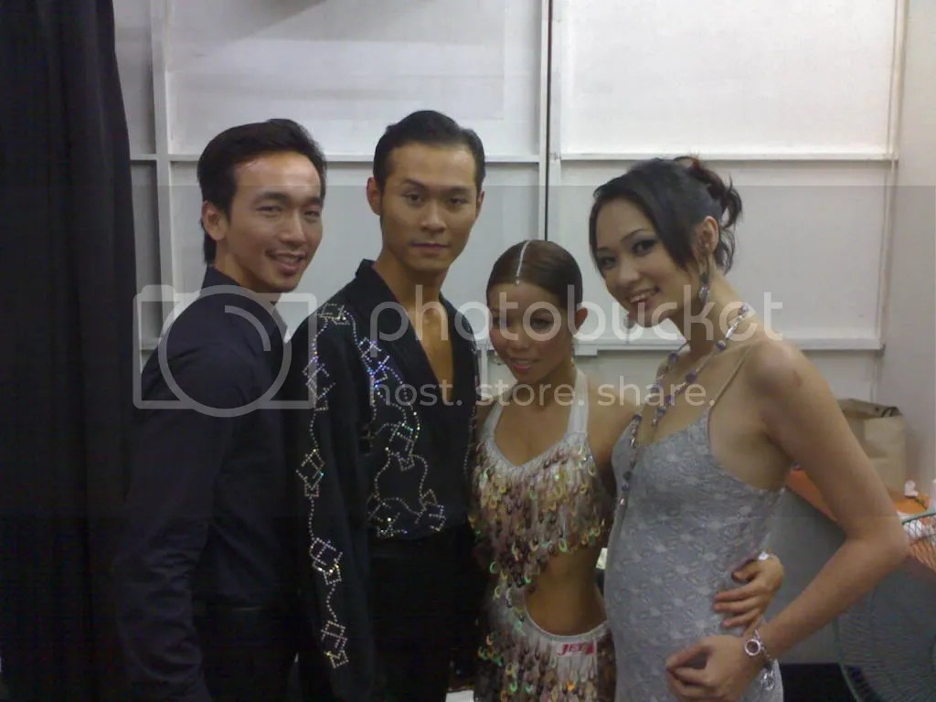 WeiJun & I together with REAL PRO DANCERS