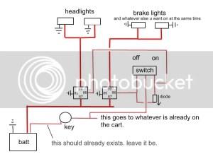 wiring lights on a golfcart?  S10 Forum