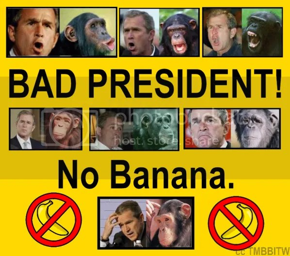 bad president no banana tee