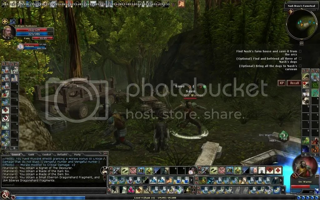 Erdrique taking on the orcs of Nashs Farm photo ErdriquetakingontheorcsinvadingNashFarm_zpse19c6c1a.jpg