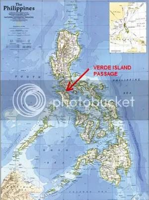 Map showing Verde Island Passage