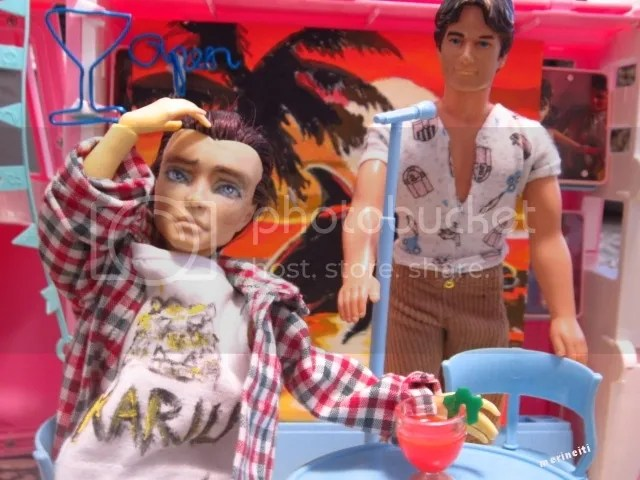 custom repaint  monster high boy doll and male fashion doll by merineiti