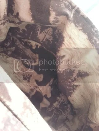 bear fabric lining in lara croft tomb raider backpack