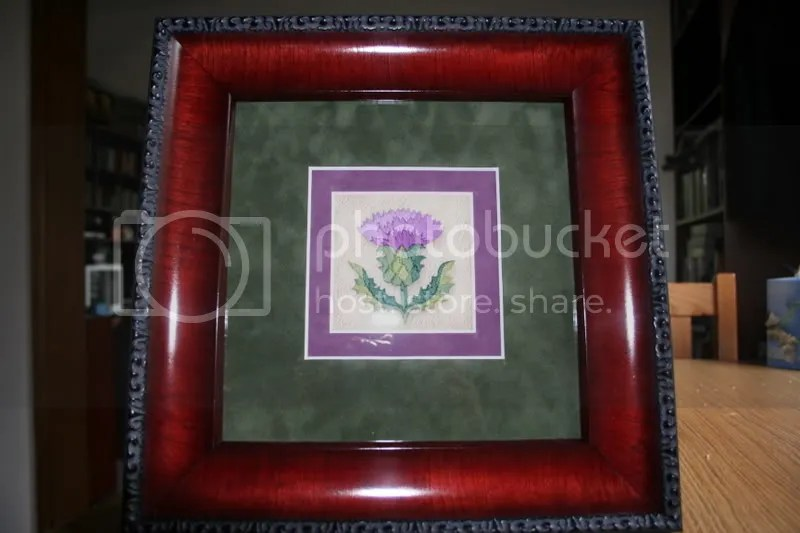 embroidered thistle