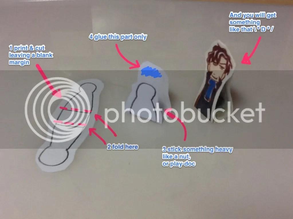 Azuki BBC Sherlock Cluedo game piece counters DIY instructions image
