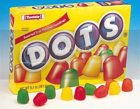 chewy, sweet and fruity DOTS