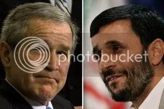 Bush - Ahmadinejad.