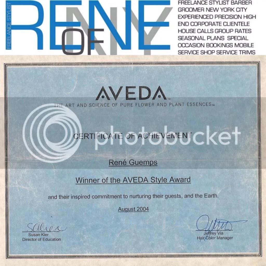 Aveda award/logo