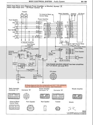 '91 Premium Stereo Wiring Instructions  Page 2  MR2