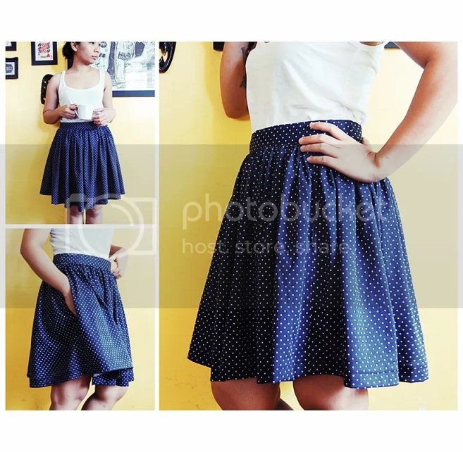 Summer Skirt Pattern Roundup featured by top US sewing blog, Flamingo Toes: full skirt with pockets