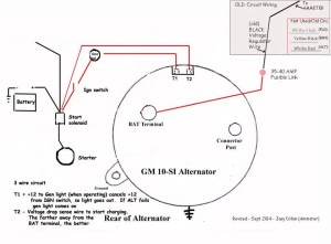 wiring diagram for DElco internal regulator alternatorjpg
