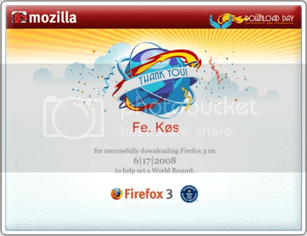 Certificado - Firefox [Download Day - 2008]
