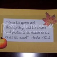 Thanksgiving Scripture Place Cards
