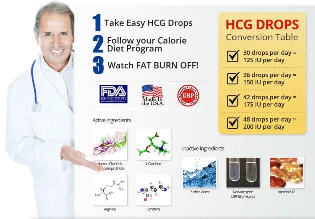 easy hcg homeopathic drops ingredients