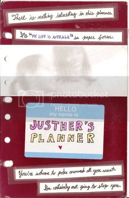 Front cover of my 2010 planner