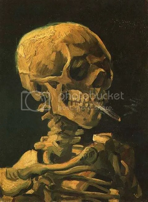 Vincent Van Gogh - Skull With Cigarette (1886)