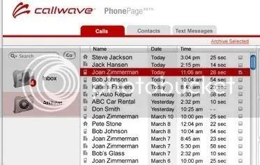 CallWave PhonePage