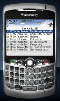Blackberry Curve screenshot
