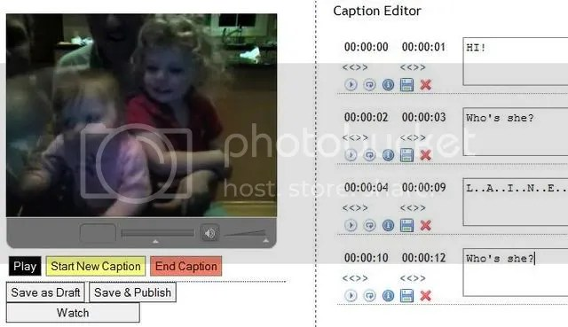 OpenCaptions screenshot