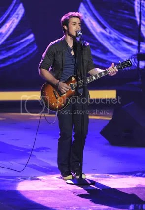 Kris Allen performing Come Together on Rock and Roll week.