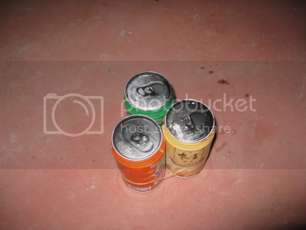 The three cans.