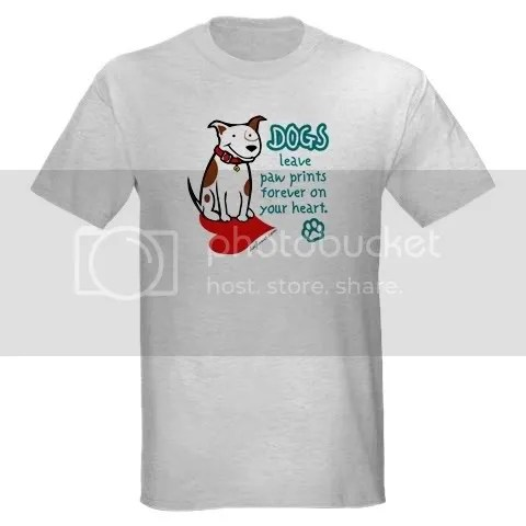 Dogs Leave Paw Prints Ash Grey T-Shirt