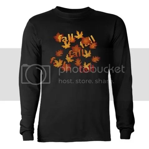 Fall Leaves Long Sleeve Dark T-Shirt