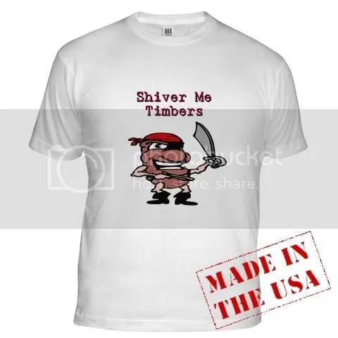 Human Bean Pirate Fitted T-Shirt