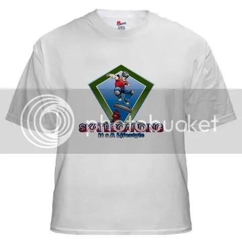 SkateBoarding Lifestyle White T-Shirt
