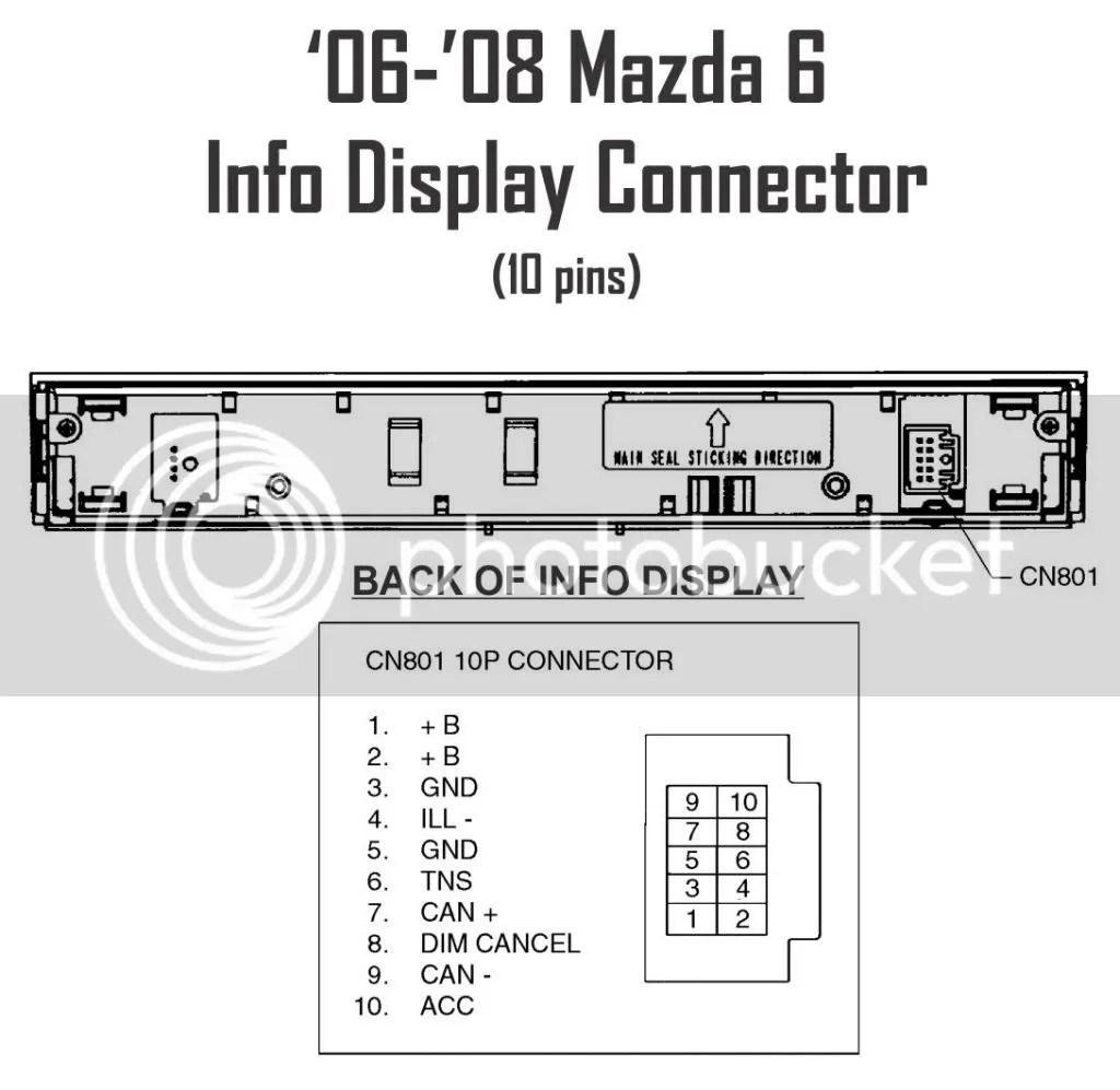 Mazda 6 Power Window Wiring Harness
