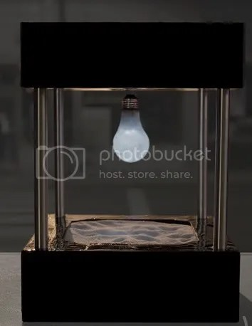 Old Levitating Lightbulb