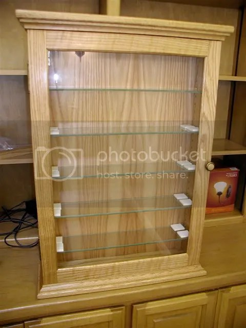 How To Build A Wall Display Cabinet