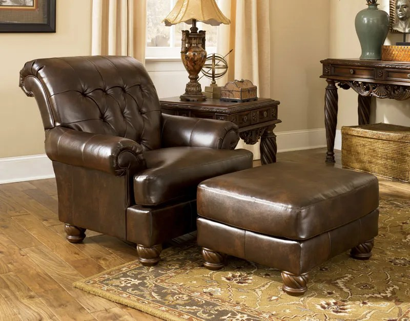 MAURICIO-OLD WORLD BONDED LEATHER & FABRIC SOFA COUCH SET