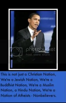 Senator Obama, This is Not Just a Christian Nation