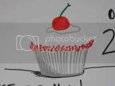Drawing of Red Velvet Cupcakes